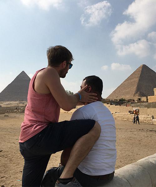 Beim Behandeln des Pyramidenführers